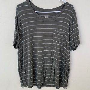 Green and White Stripped T-shirt